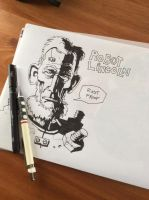 Robot Lincoln Sketch by m99art
