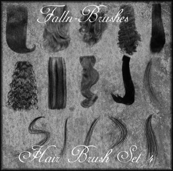 Hair Brushes Set 4 by Falln-Brushes