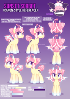 Sunset Sorbet Canon-Style Reference by zombie