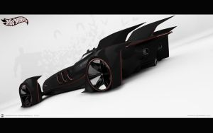 Batmobile concept rear view by wizzoo7