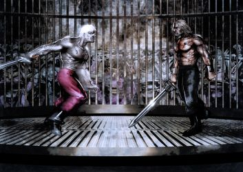 the duel of Loken and Lucius by slaine69