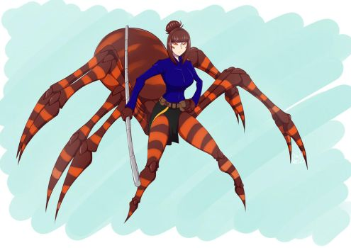 Commission: Chichi the Long Leg Breed Arachne by djunk855