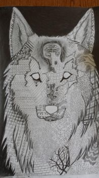 Patterned Wolf by nacho36
