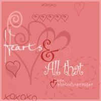 Hearts-brush pack by photoshopranger