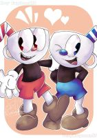 Cuphead and Mugman! by GoldMonday