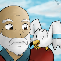-PKMN- One Man and his Bird by pdutogepi