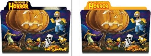 The Simpsons - Treehouse of Horror - Folder Icons by nellanel