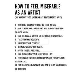 how to feel miserable as an artist (by Keri Smith)