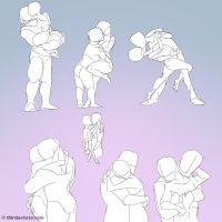 Couples gestures by ThirdPotato