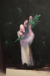My hand with a sprig by hrutger