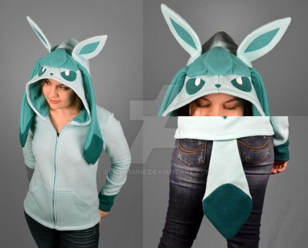 Glaceon Hoodie by SewDesuNe