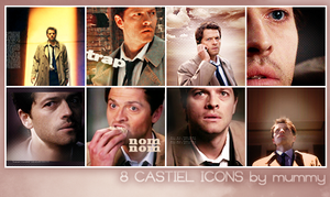 8 Castiel icons :3: by mummy16