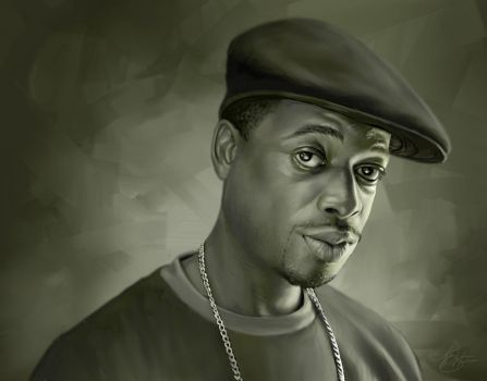Devin The Dude Digital Painting by timothysmithdesign