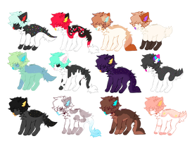 Canine Adoptable OPEN by Sheep-Adoptions