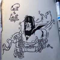 Inktober #1 Space Ghost by MFMugen