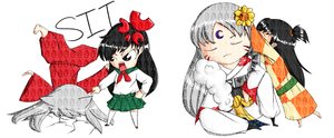 Inuyasha chibis by OMGProductions