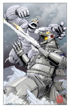 MechaGodzilla vs Mechanikong by KaijuSamurai