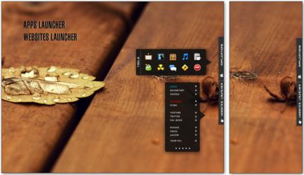 Launcher Tab  for rainmeter by mickey005