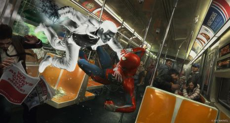Concept Art Marvel's Spider-Man Game by LaxXter