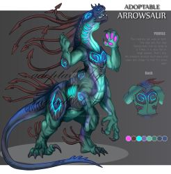 ADOPTABLE Close : ARROWSAUR [Auction][paypal] by SmileykittyAdopt