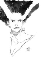 Bride of Frankenstein sketch by kevinmellon