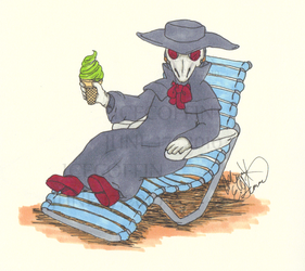 Summer with Mini Plague Doctor by IceCoffin