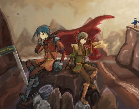 Gijinka : (Sword and Blade) Valley of the Damned by warp-y