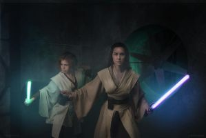 Master and Padawan by lady-narven