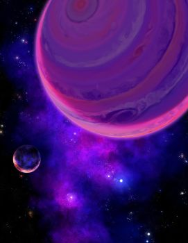 Purple Spacescape by DeepChrome