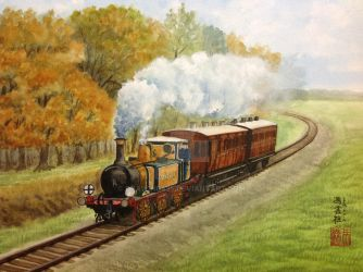 Stepney The Bluebell Engine by drawing425