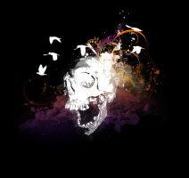 Flying Skull with swirls by utilizzo