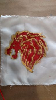 Masterson Family Crest on Silk by RankTrack45