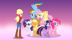 The Mane Six Congratulating Megan by DashieMLPFiM