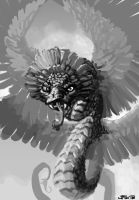 Coatl, feathered snake Dungeons and Dragons by zelldweller