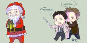 santas an abomination by Supernatural-Fox