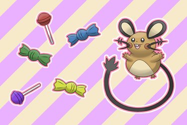Dedenne's Candy Time! by MrKlonoa
