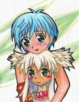 Star Ocean Fayt and Peppita by fairy-of-illusions
