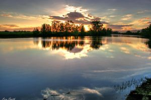 Tranquil lake by engridearty