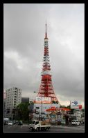 Storm Approaches Tokyo Tower by stevezpj