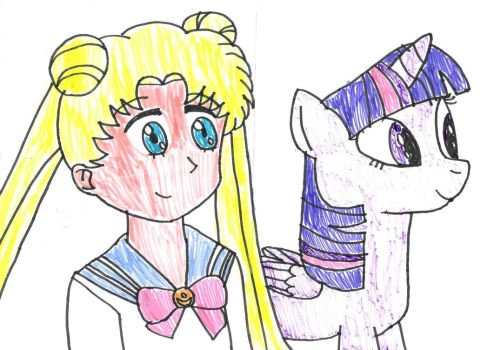 Usagi and Twilight together by MarcosPower1996