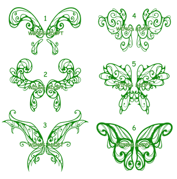 Lottery Wings Sketches by vicifashion
