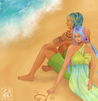 dAF - Hearts in the Sand by PineappleCookie