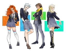 Merida, JackFrost, Hiccup, and Elsa by S-Shanshan