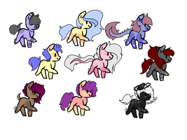 Cheap Set Price Pony Adopts OPEN lowered :3 by AkiiiChaos