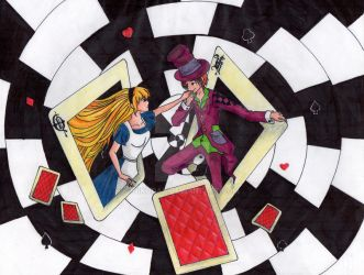 alice and the mad hatter by Nikoday