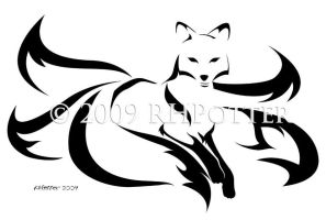 Five-Tailed Kitsune by RHPotter
