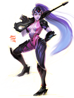 Overwatch Widowmaker by beendrawing