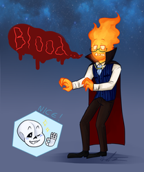 Spoopy Grillby by Tarulimint