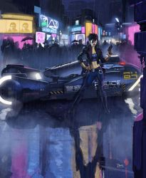 blade runner imagineFX cover by francis001