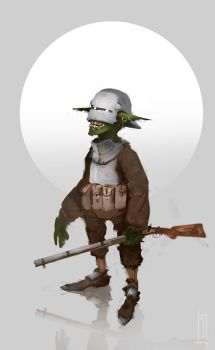 Goblin partisan by JHKris